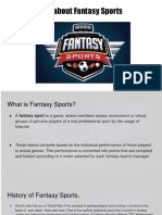 All About Fantasy Sports