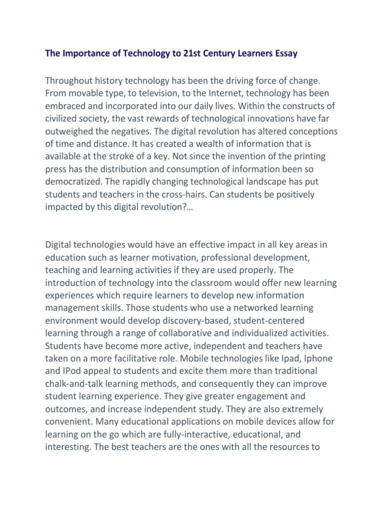 Essay on technology in 21st century professional dissertation writer site