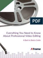 Aframe Whitepaper - Pro Video Editing