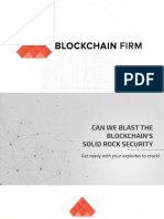 Can We Blast the Blockchain's Solid Rock Security