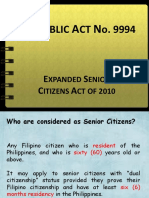 Expanded Senior Citizen Act