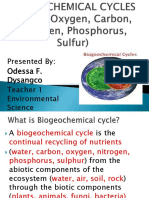 Biological Cycles of Environmental Science