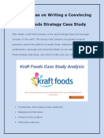 Writing a Convincing Kraft Foods Strategy Case Study- Simple Ideas