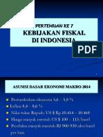 Kuliah 7 Kebij Fiskal 2014