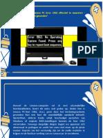 """Juiste instructies om Lenovo PC Error 1962 effectief te repareren - """"Geen besturingssysteem gevonden"""""""