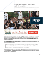 2019_JUN. Igreja Transformada Em ONG Secular - Crítica Do Sínodo Da Amazônia