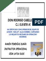 Certificacion Man Lift