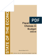 Rr76 Fiscal Policy Choices in Budget 2008-09