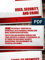 Premises Security Crime