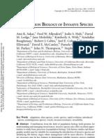 Population Biology of Invasive Species