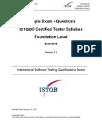 CTFL 2018 Sample Questions Exam B v1.1 Questions