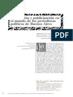 Politización y publicización en el mundo de los periodistas políticos de Buenos Aires