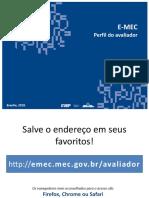 Apresentacao E-MEC - Formulario de Avaliacao