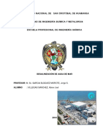Desalinacion de Agua de Mar
