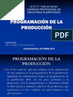 programación de la producción