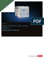 Dpstar ABB Realays Motor Protection REM611 CAtalog