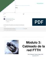 Cableado de la red FTTH