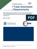 FDA Supplemental Guide Release 2.5.1 2018 0410
