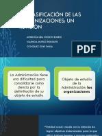 Copia de La clasificación de las organizaciones