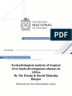 Presentación Ecohydrological Analysis of Tropical River Basin Development Schemes in Africa