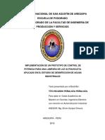 IMPLEMENTACIÓN DE UN PROTOTIPO DE CONTROL DE POTENCIA PARA UNA LÁMPARA DE LUZ ULTRAVIOLETA APLICADO EN EL ESTUDIO DE DESINFECCIÓN DE AGUAS INDUSTRIALES