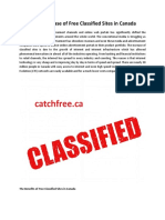 The Rapid Increase of Free Classified Sites in Canada