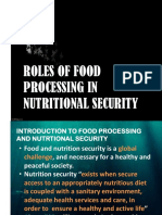 Role of food processing in Nutritional security