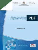 Etude Preliminaire Aquaculture