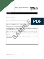 2017 Chemistry (1) (Sample Past Paper)