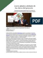 Martín Vizcarra Plantea Adelanto de Elecciones