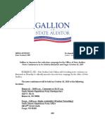 Media Advisory - Gallion Reelection
