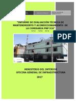 MANTENIMIENTO DE LA COMISARIA PNP ICA