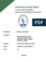 Proyecto Tornillo de Banco