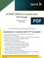 ECSFB Pre-launch Testing ATP_v1