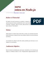 El Libro para Principiantes en Node - JAVA.pdf