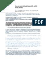 Réponses apportées par AXA IM Real Assets à la cellule investigation de Radio France