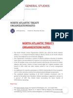 North Atlantic Treaty Organization(Nato) – History and General Studies