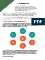 The Mckinsey 7 s Framework