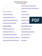 a320 abnormal procedures