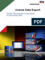 TU Data Export Sample Crystal Reports