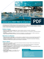 RDO PRO Optical Dissolved Oxygen Probe for Aquaculture Specs Spanish