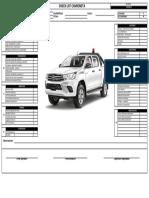 Check List de Camioneta