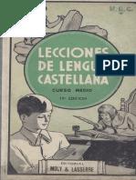 lecciones de lengua castellana