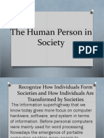 The Human Person in Society