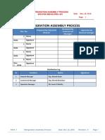 Refergration Assembly Process