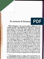 Sobre Walter Benjamin Theodor W Adorno Izq Par36