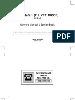 Tata Safari Dicor Manual | Airbag | Seat Belt