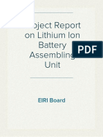 Project Report on Lithium Ion Battery Assembling Unit