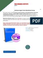 Project Report on Aluminium Ingot Scrap