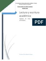 Lectura y Escritura Académica